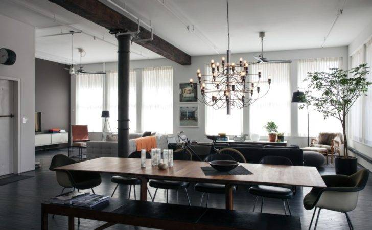 Spacious Designer Loft Industrial Touches Works Art