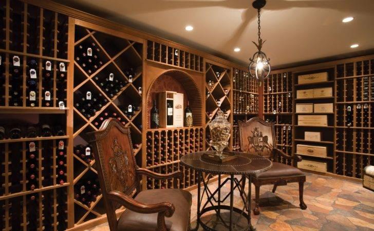 Spacious Room Wine Cellar Design Cube Also Column Racks Plus