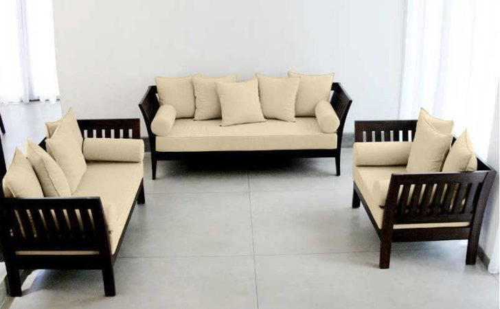 Spacious Wooden Sofa Set Seater Extra