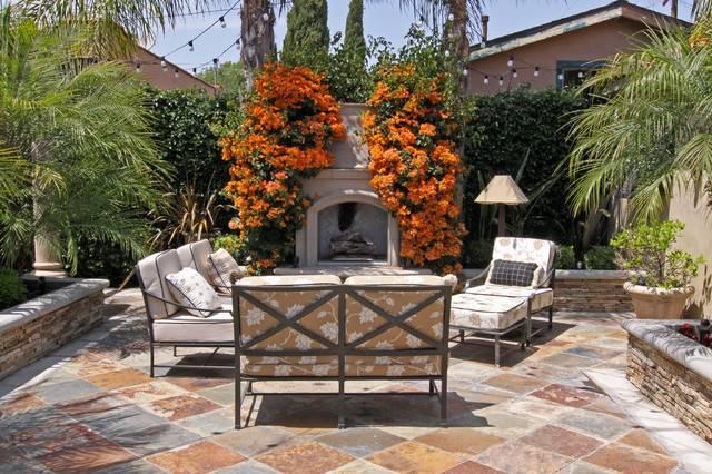 Spanish Bungalow Mediterranean Patio Orange County Flea