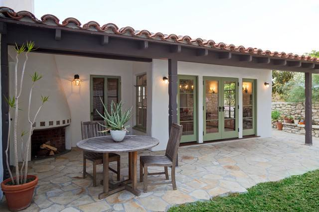 Spanish Hacienda Style Patios Mediterranean Patio
