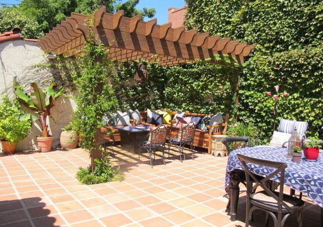 Spanish Style Backyard Mediterranean Patio