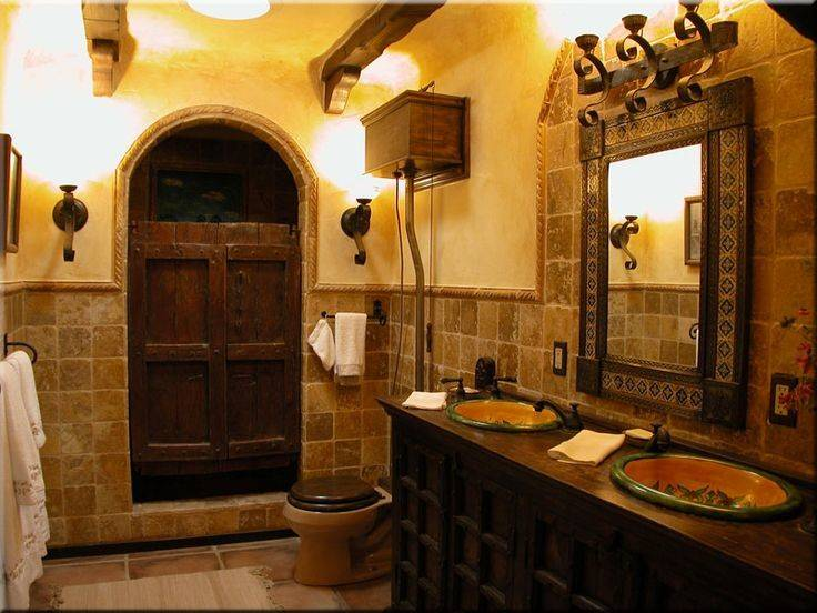Spanish Style Bathroom Bathrooms Pinterest
