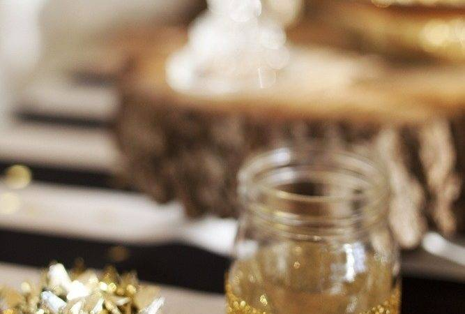 Sparkle Gold Dipped Mason Jars Crafty Pinterest