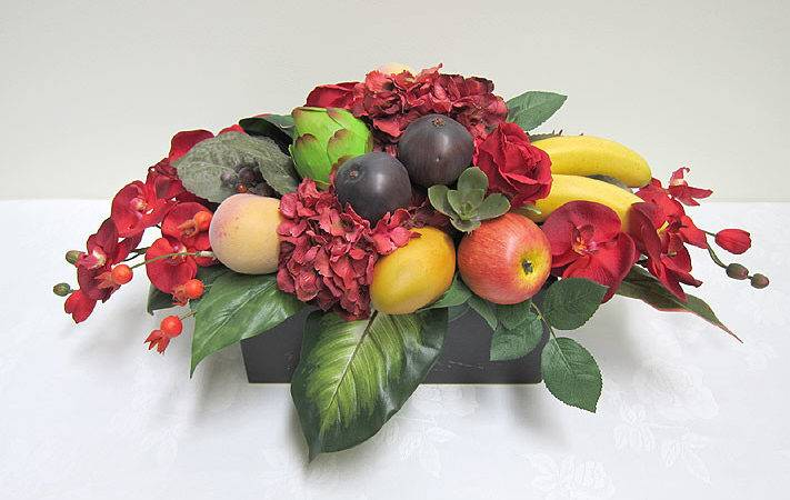 Special Occasions Flower Arrangements Long Low Fruit Arrangement