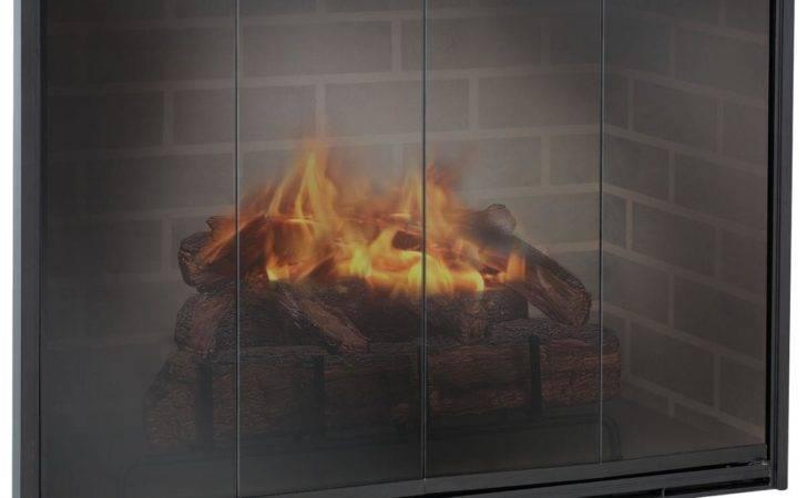 Specialties Stiletto Custom Made Glass Door Masonry Fireplaces