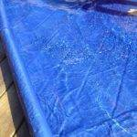 Splash Pad Made Tarp Pool Noodles Did Sew Five Inch