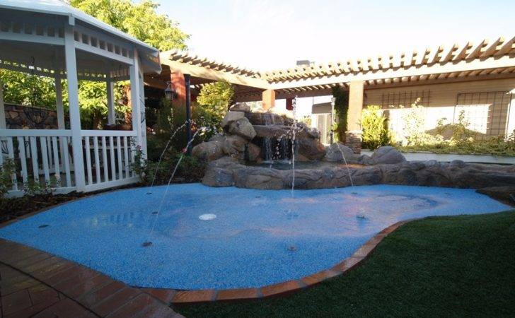 Splash Pad Pool Tie Pools Rain Deck