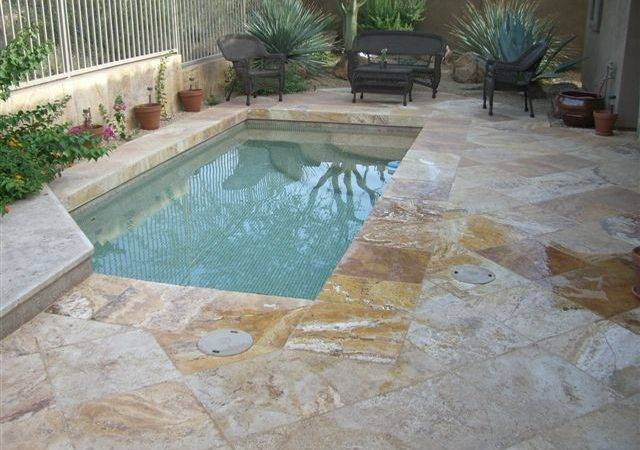 Splash Pool Patio Authentic Durango Stone Traditional