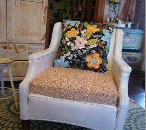 Spray Painted Vinyl Chair Like Watchin Paint Dry Pinterest