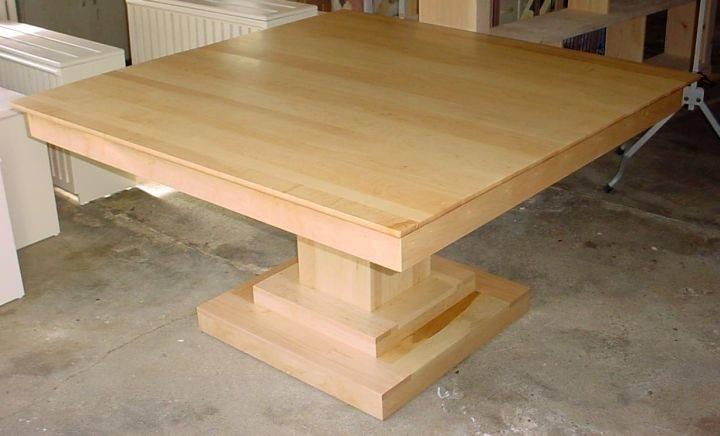 Square Mapple Pedestal Table Base Ideas