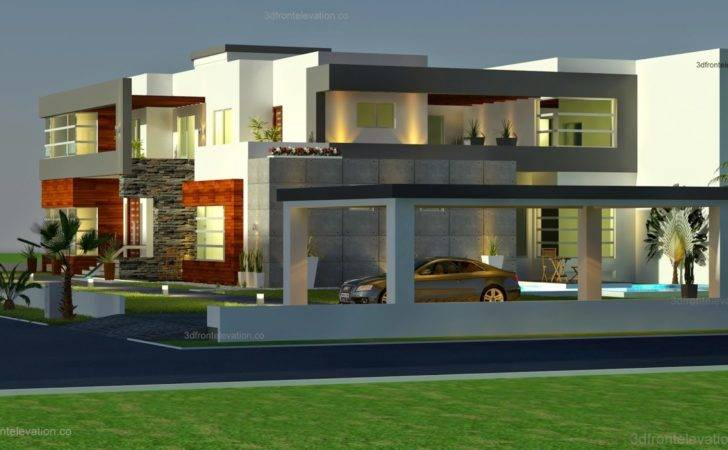 Square Meter Modern Contemporary House Plan Design Front Elevation