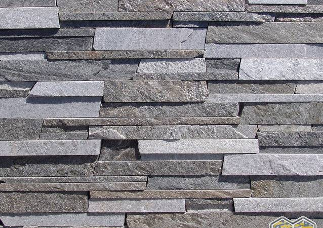 Stack Pattern Charcoal White Stacked Stone Veneer
