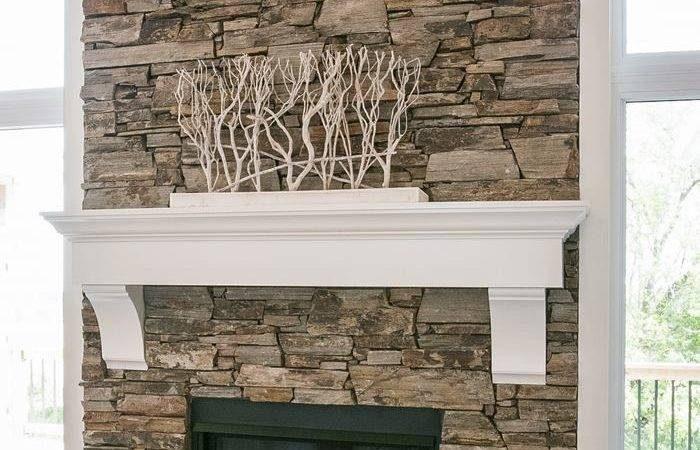 Stacked Stone Fireplace Design Dennis Pinterest Fireplaces