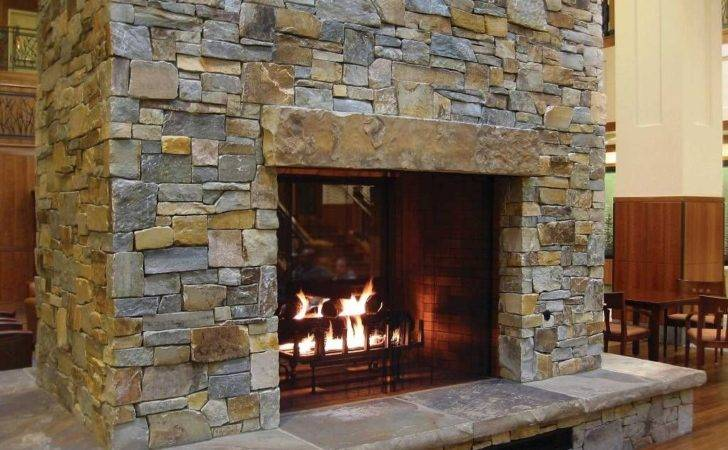 Stacked Stone Fireplace Large Header