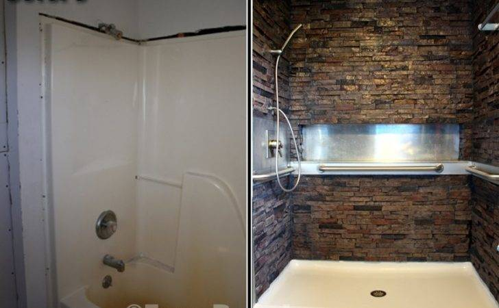 Stacked Stone Shower Walls Artificial Panels