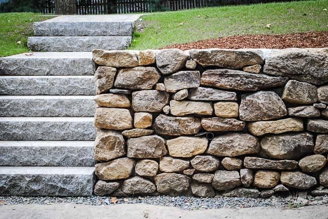Stacked Stone Wall Custom Built Natural Walls