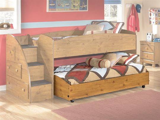 Stages Twin Loft Caster Bed Ashley Furniture