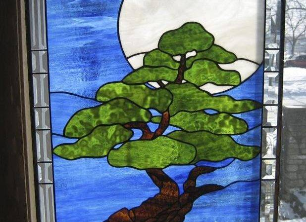 Stain Glass Sale Flowing Tree Moonlight Stained Window