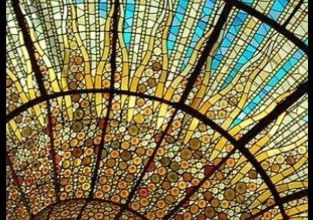 Stain Glass Window Art Nouveau More Barcelona