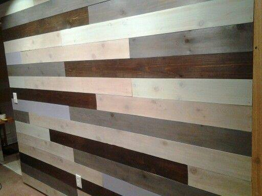 Stained Cedar Board Wall Painted Wood Walls Trim Pinterest