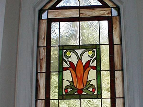 Stained Glass Windows Art Nouveau Glasses Deco Tulip New