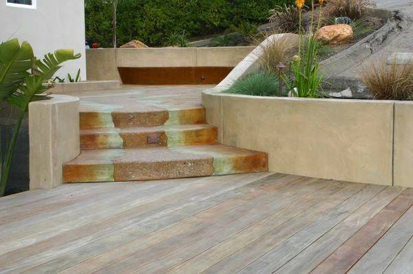 Stained Sandblasted Concrete Steps Anna Oznowicz Portfolio Home