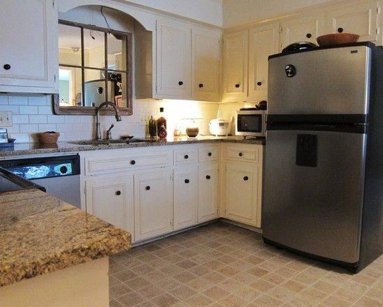 Stainless Refrigerator Window Mirror Design Kitchens Sinks