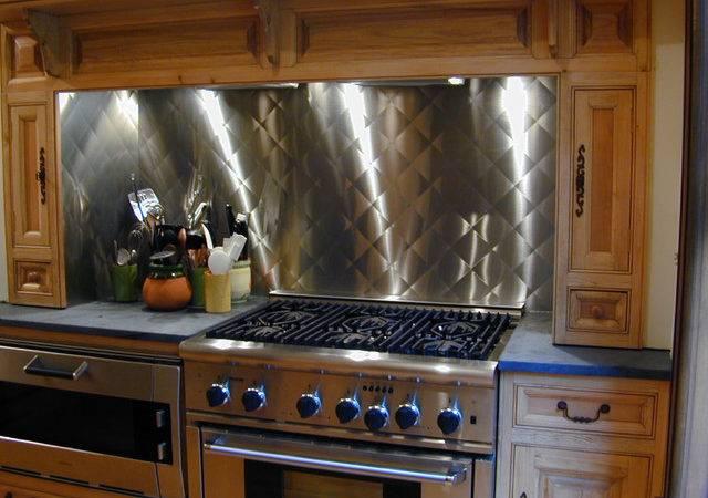 Stainless Steel Backsplash Brooks Custom Contemporary Kitchen