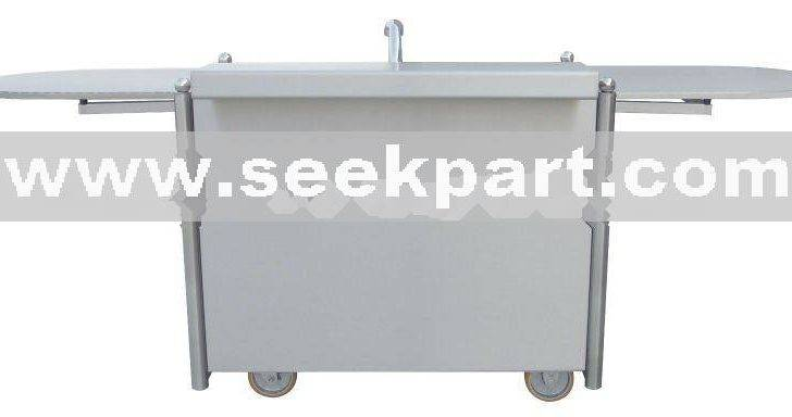 Stainless Steel Mobile Coffee Cart Wash Station Products