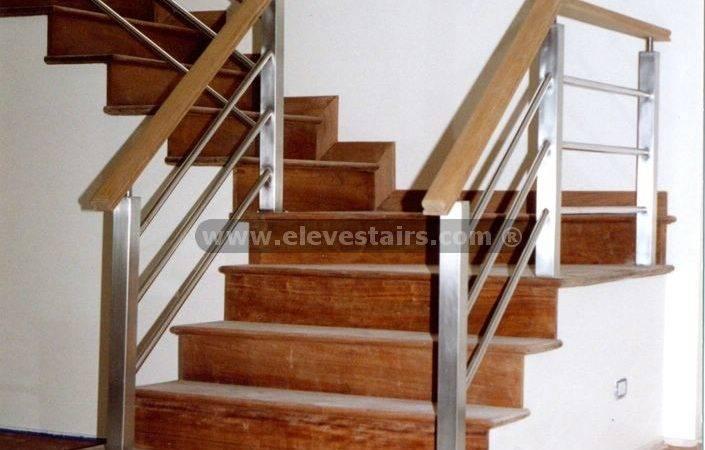 Stainless Steel Railings Wood Handrails