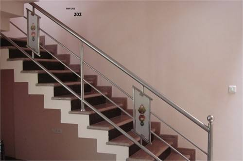 Stainless Steel Staircase Design Kerala Joy Studio