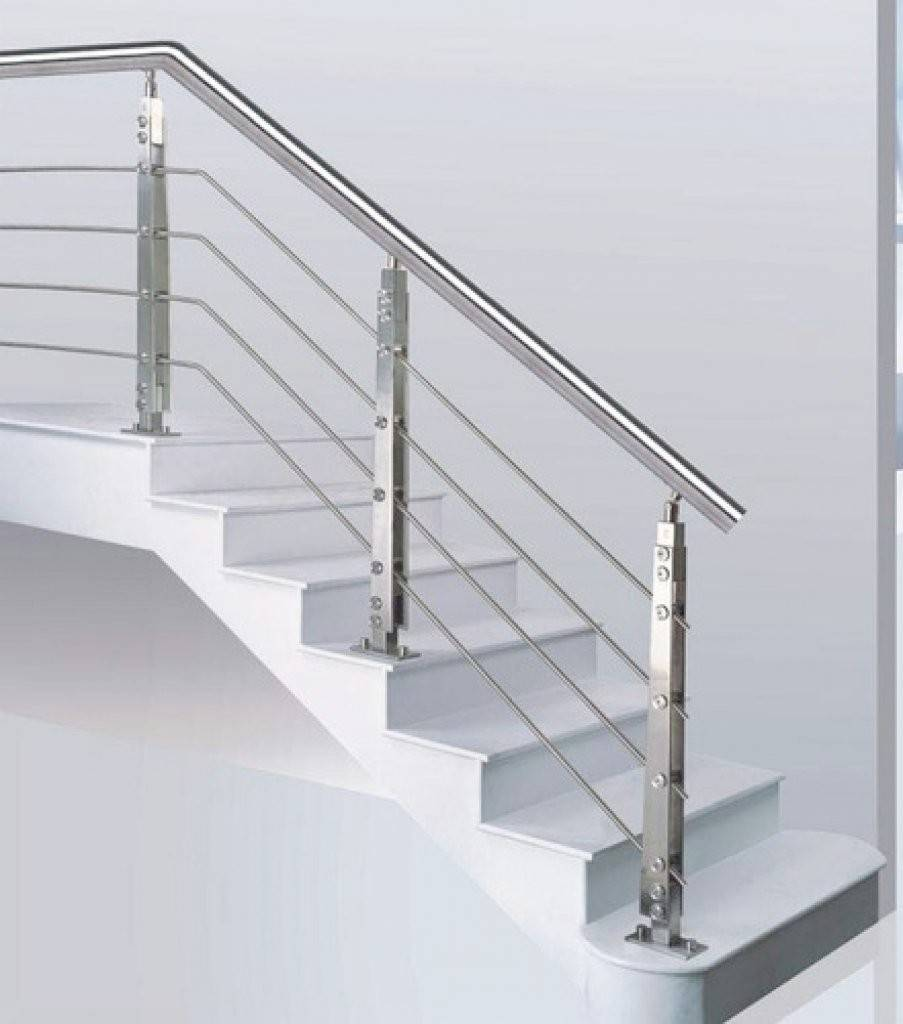 Stainless Steel Staircase Design Kerala Modern Style