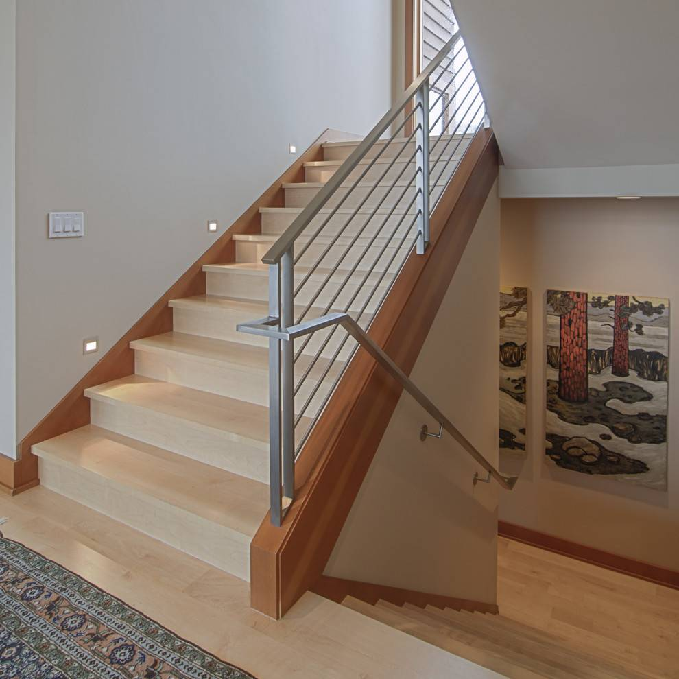 Stair Banister Ideas Staircase Contemporary Dark Wood Baseboard