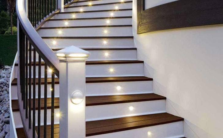 Stair Handrail Chic Modern Lighting Staircase Design Ideas Brown