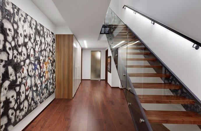Stair Handrail Light Home Pinterest