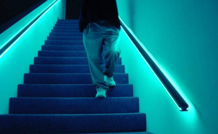 Stair Handrail Lighting