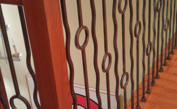 Stair Remodel Contemporary Iron Baluster Patterns Parts