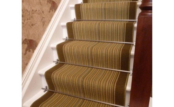Stair Runners Stripes Carnaby Green Carpet Runner
