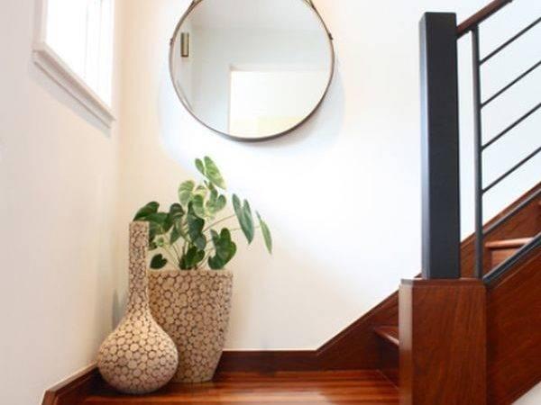 Staircase Landing Mirror Hang