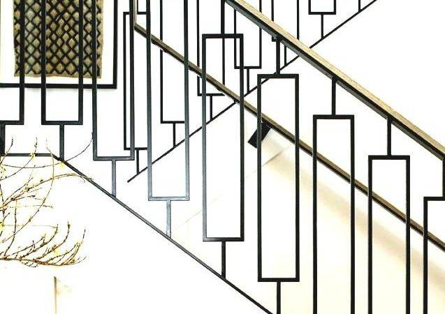 Staircase Railing Designs Black Steel Wooden