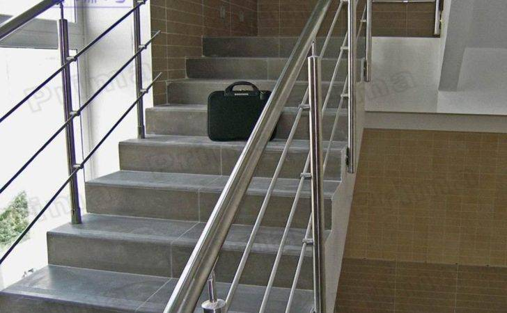 Staircase Steel Railing Designs Glass Stainless