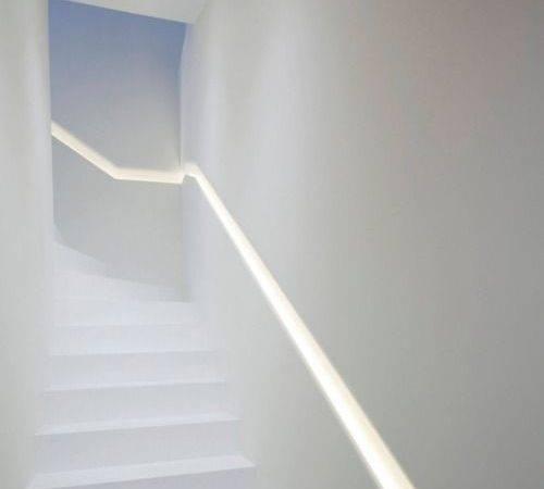 Stairs Hands Railings Lights Handrail Detail