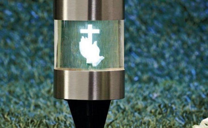 Stake Cross Garden Cemetery Grave Marker Light Ebay