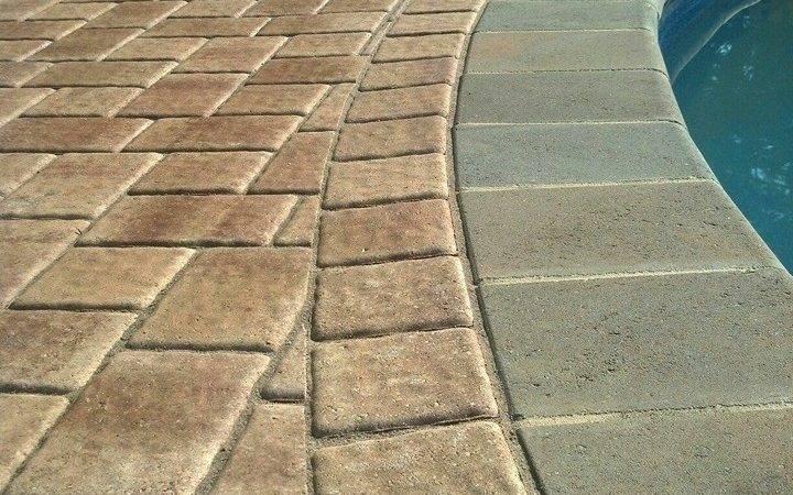 Stamp Concrete Patio Custom Outdoor Kitchen Area