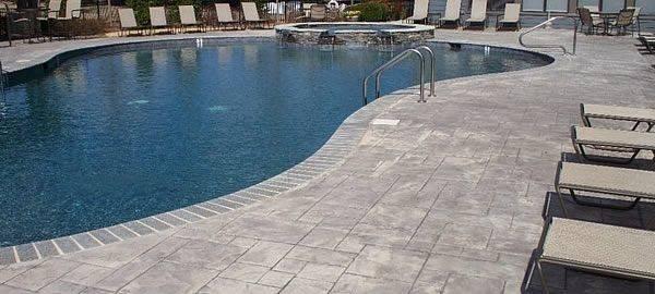 Stamped Concrete Around Pool Build Again Pinterest