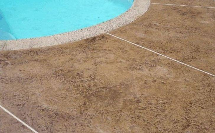 Stamped Concrete Around Pool Deck