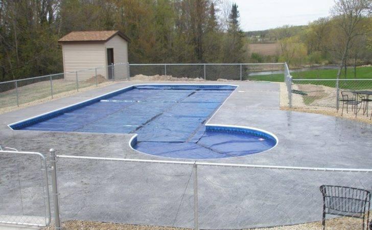 Stamped Concrete Around Pool Pin Pinterest