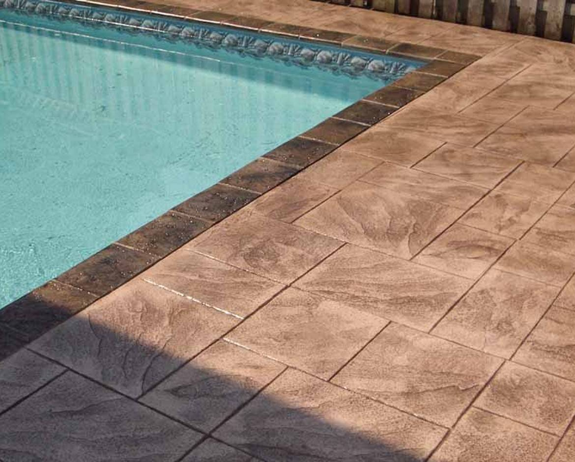 Stamped Concrete Around Pool