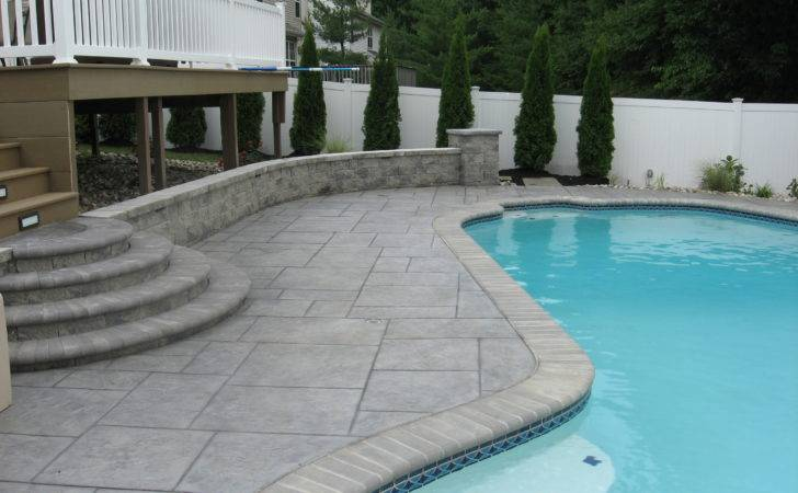 Stamped Concrete Around Swimming Pool